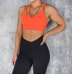 Rapid Wear - Knockout Sports Bra (Orange)