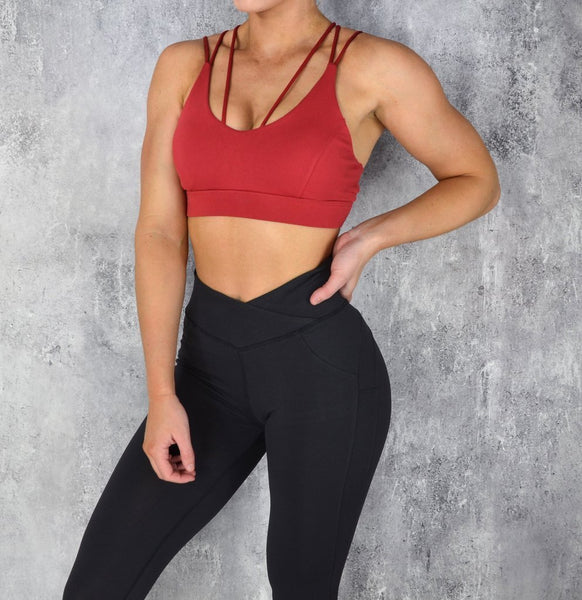RapidWear - Knockout Sports Bra (Red)