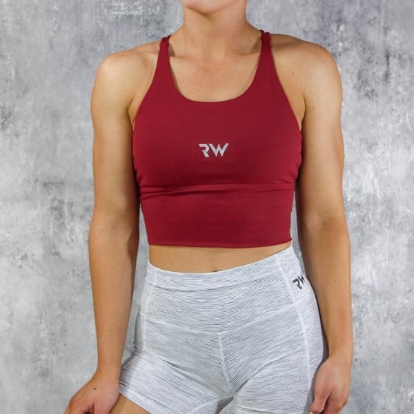RapidWear - Luxe Comfort Sports Bra (Red)