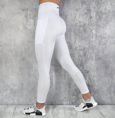 RapidWear - Mesh Panel Leggings (White)