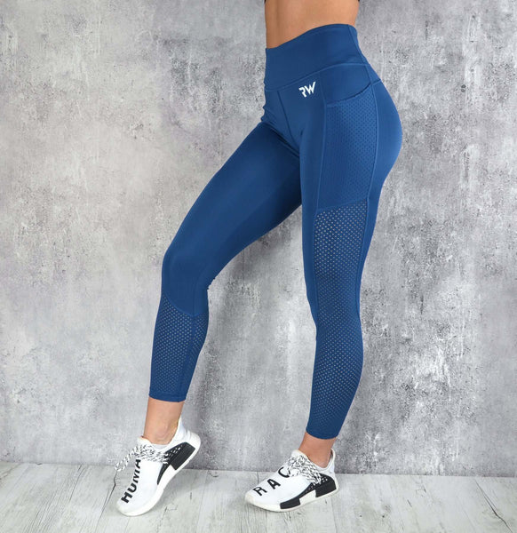 RapidWear - Mesh Panel Leggings (Navy Blue)