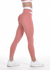 RapidWear - Two Toned Scrunch Leggings (Coral)