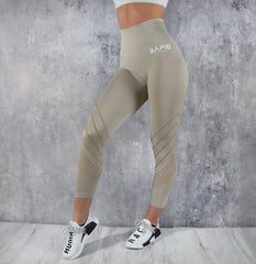 Rapid Wear 7/8 Detailed Seamless Leggings Nude