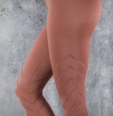 Rapid Wear 7/8 Detailed Seamless Leggings Punch Pink