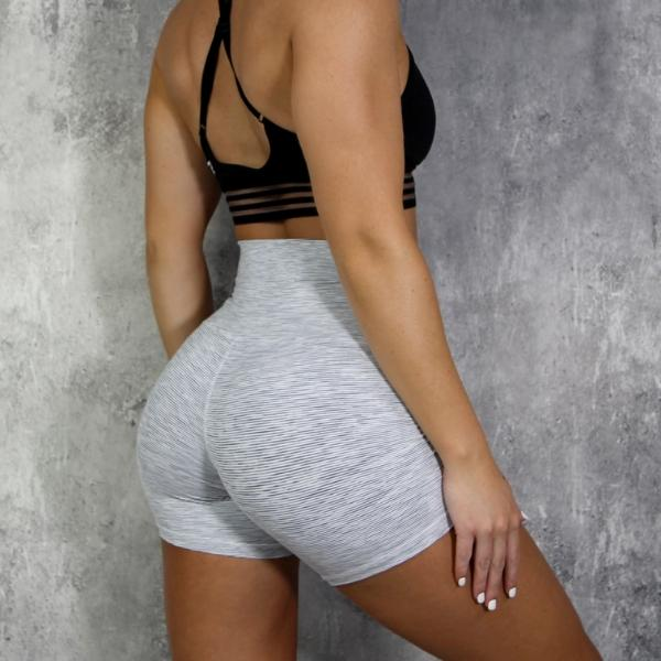 RapidWear - High Waist Shorts (Grey)
