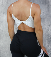 RapidWear - Open Back Crop Top (Hvid)