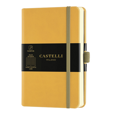 Castelli Milano Aquarela Pocket Notebook - Mustard