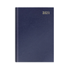 Letts of London Classic A5 Day to Page 2021 Diary with Cream Paper A2A Blue