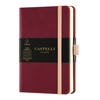 Castelli Milano Aquarela Pocket Notebook - Maroon (Black Cherry)