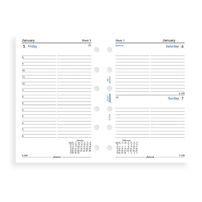 Filofax - One Day On A Page Diary With Appointments Pocket 2020