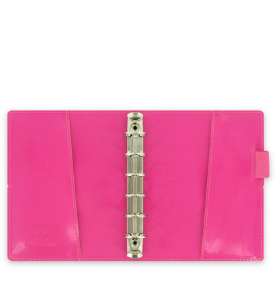 Filofax - Domino Patent - Pocket- Hot Pink
