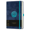 Castelli Milano Velluto Rose Medium Notebook - Blue