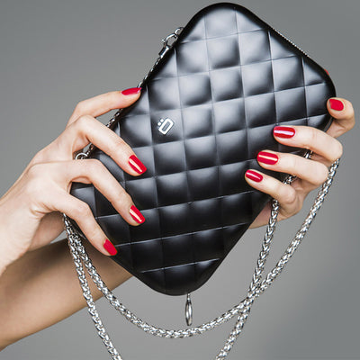 Quilted Lady Bag Clutch - Black
