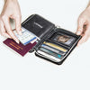Quited Passport Wallet - Black
