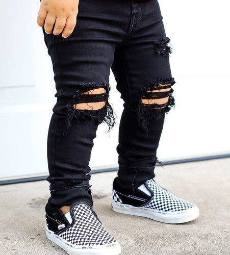 Blacked Out Skinny Jegs