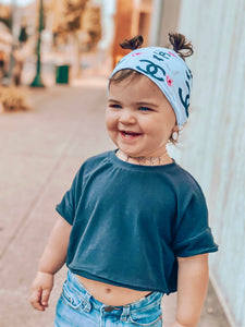 Baby blue Chanel Headwrap