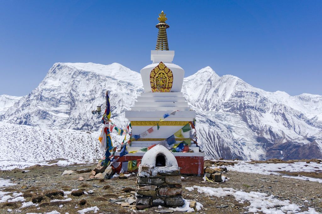 Stupa at Ice Lake
