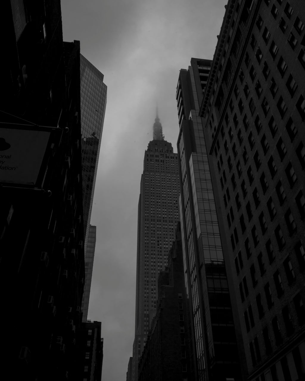 Empire State On A Foggy Day