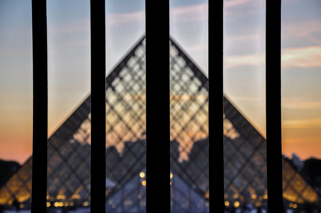 Behind Bars At Louvre