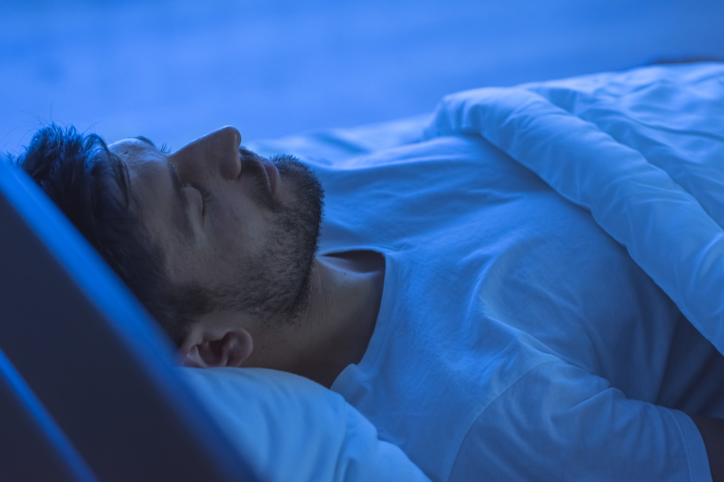 Man in a deep sleep