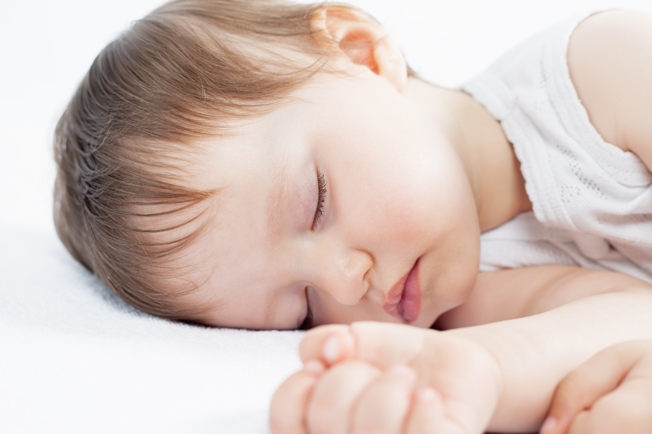 Young child in deep sleep