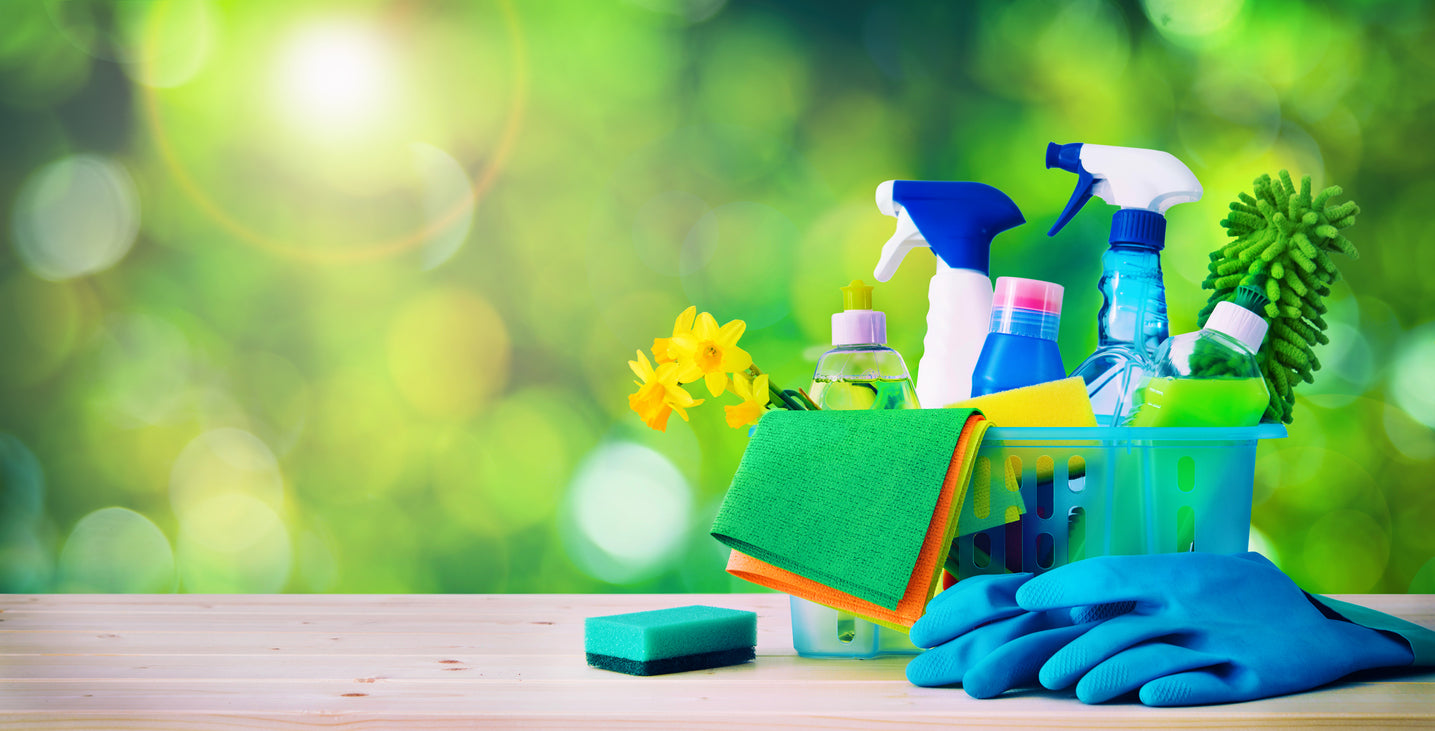 Cleaning supplies needed for a successful spring clean