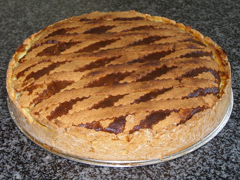 Neapolitan grain pie for Easter Party