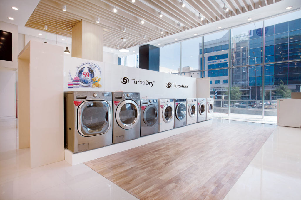Washing machine showroom