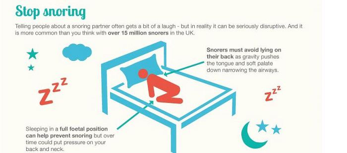 Your sleeping position can help you stop snoring