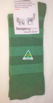 HUMPHREY LAW BABY ALPACA/MERINO STRIP SOCKS