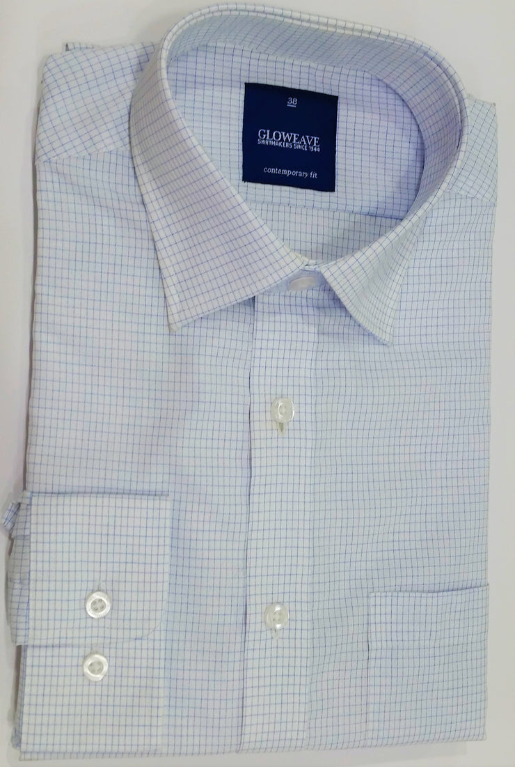 peter-webbers-menswear - GLOWEAVE WHITE SHIRT WITH POCKET - CLOTHING