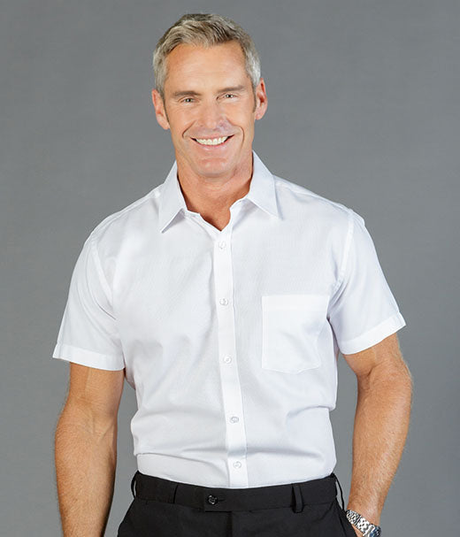 peter-webbers-menswear - GLOWEAVE ULTIMATE WHITE SHORT SLEEVED SHIRT - CLOTHING