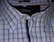 PERRONE L/S SHIRT BLUE & BLACK