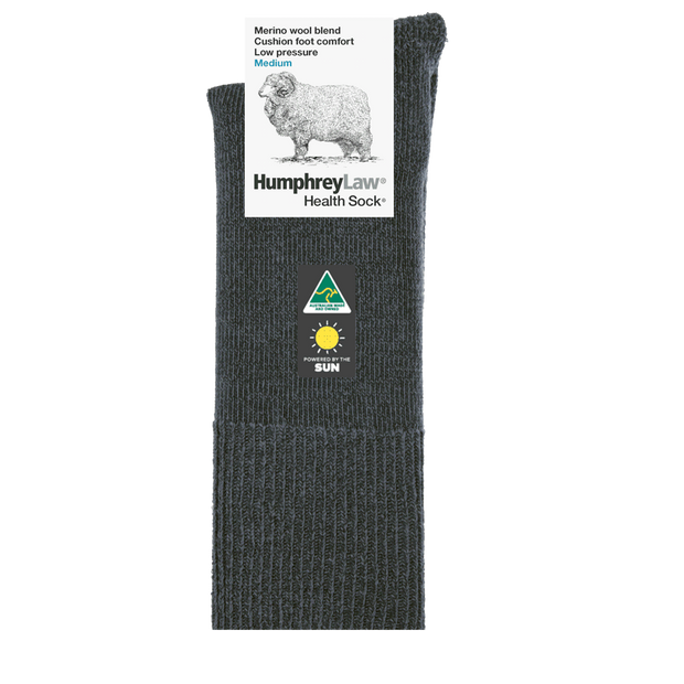 HUMPHREY LAW HEALTH MERINO CUSHFOOT SOCK SCOTSGRY