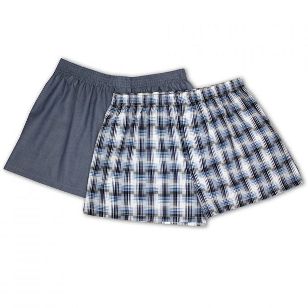 GLOSTER MENS 2 PACK BOXER SHORTS