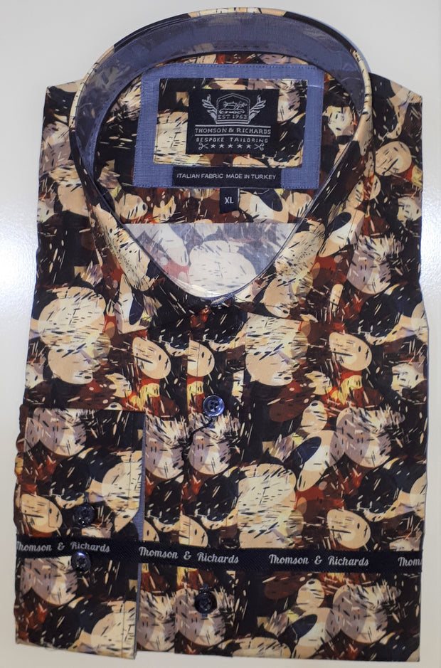 THOMSON AND RICHARDS ART MULTI L/S SHIRT