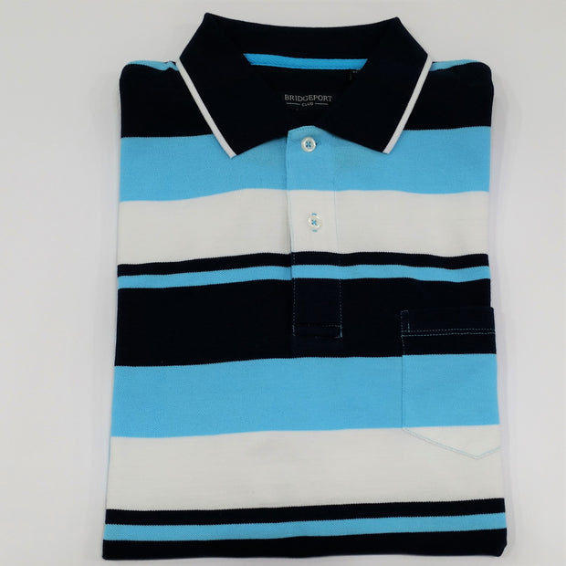 peter-webbers-menswear - MENS POLO TOP 'AQUA' - CLOTHING