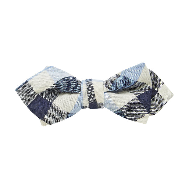 BOW TIE + POCKET SQUARE, PLAID, SKY