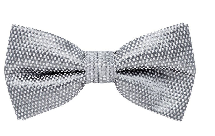 BOW TIE + POCKET SQURE, CARBON, GREY