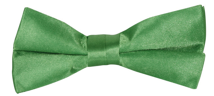 BOW TIE + POCKET SQUARE, PLAIN, GREEN