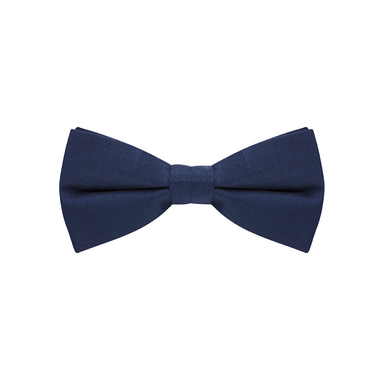 BOW TIE + POCKET SQUARE, PLAIN, MIDNIGHT