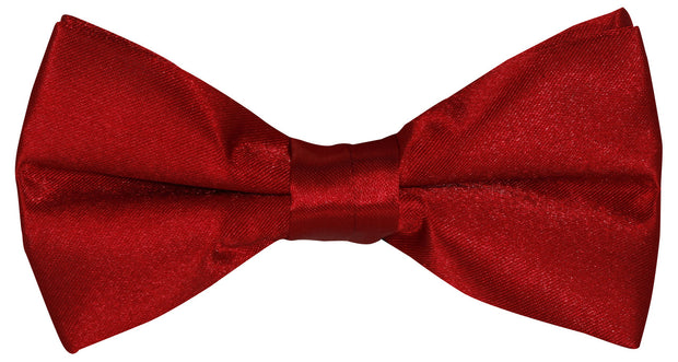 BOW TIE + POCKET SQUARE, PLAIN, RED