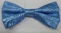 BOW TIE + POCKET SQUARE, PLAIN, BLUE