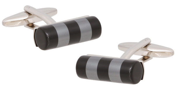 peter-webbers-menswear - CUFFLINKS ONYX ROD NP - ACCESSORIES