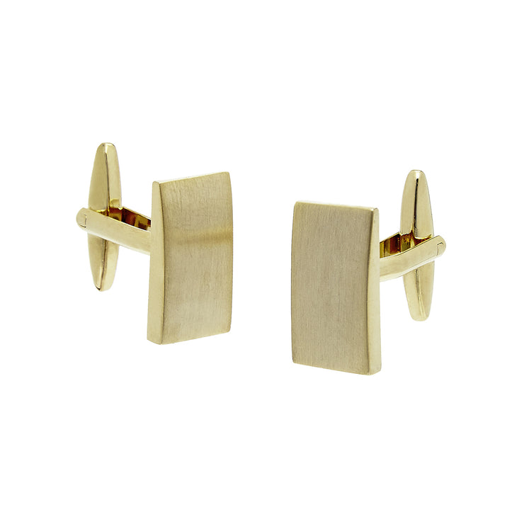 CUFFLINKS RECT BRUSHED GOLD