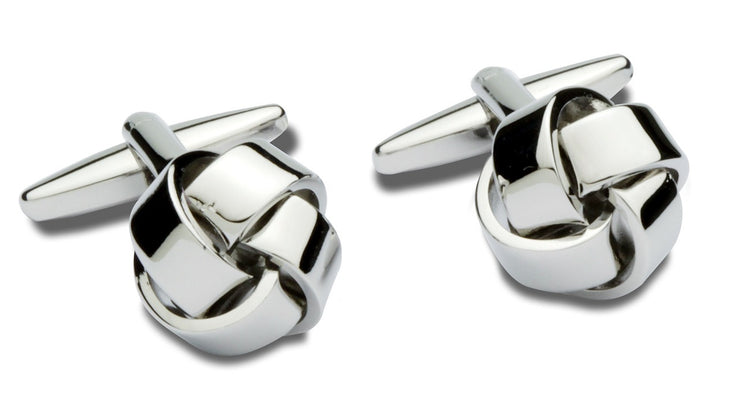 peter-webbers-menswear - CUFFLINKS PLAIN KNOT NP - ACCESSORIES