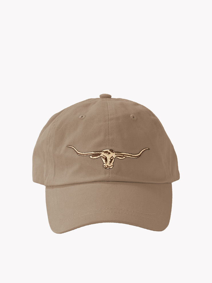 R M Williams STEERS HEAD LOGO CAP BUCKSKIN