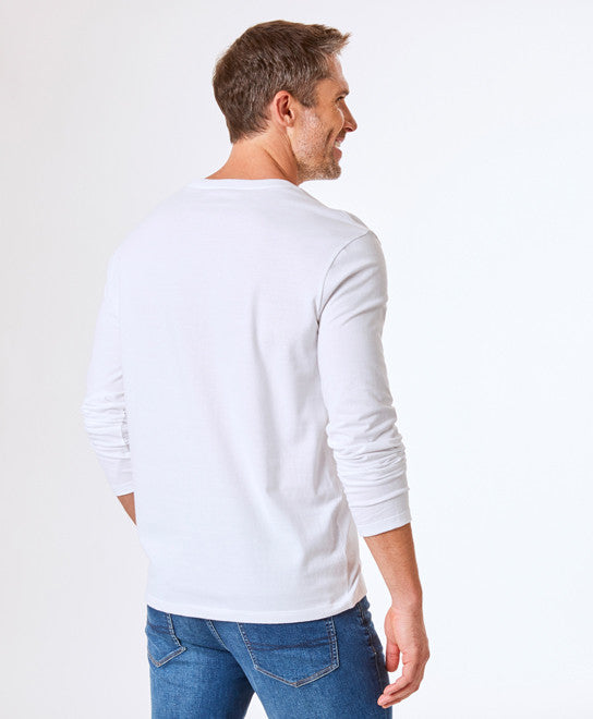peter-webbers-menswear - GAZMAN LONG SLEEVE POCKET TEE - CLOTHING