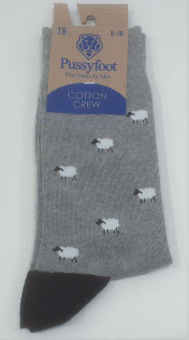 PUSSYFOOT COTTON SHEEP SOCKS