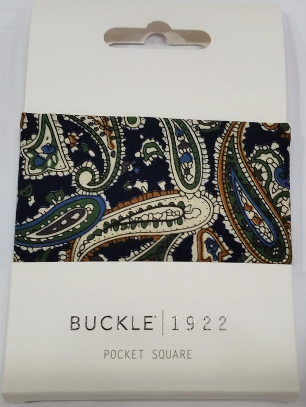 POCKET SQUARE, PAISLEY BROWN